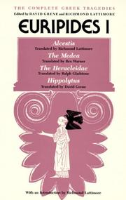 Cover of: The Complete Greek Tragedies: Euripides.