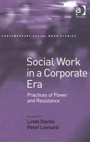 Cover of: Social Work In A Corporate Era |