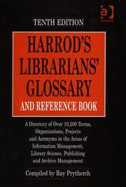 Cover of: Harrod's librarians' glossary and reference book