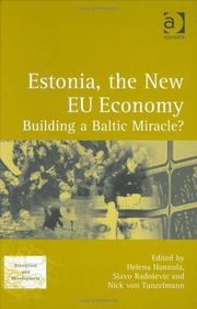 Cover of: Estonia, the new EU economy |
