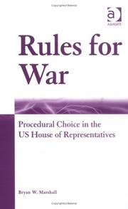 Cover of: Rules for War | Bryan W. Marshall