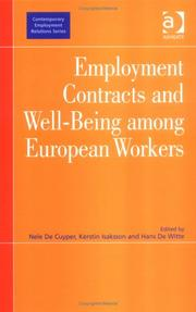 Cover of: Employment contracts and well-being among European workers |