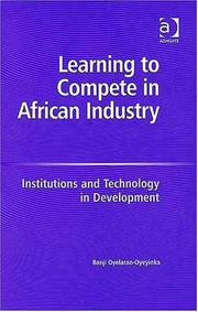 Cover of: Learning to compete in African industry