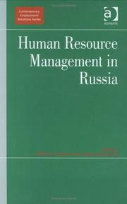 Cover of: Human resource management in Russia |