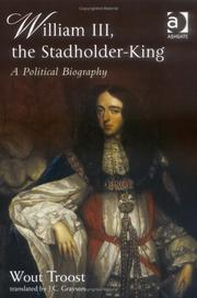 Cover of: William III the Stadholder-king | Wouter Troost