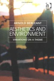 Cover of: Aesthetics And Environment