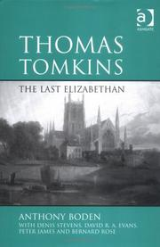 Cover of: Thomas Tomkins