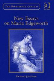 Cover of: New essays on Maria Edgeworth |