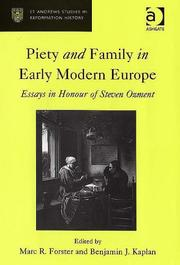 Cover of: Piety and family in early modern Europe