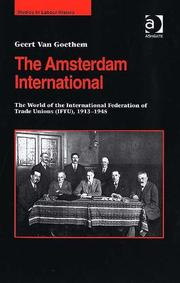 Cover of: The Amsterdam International