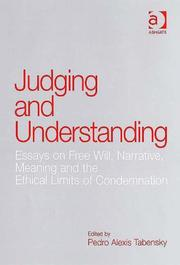 Cover of: Judging and Understanding | Pedro Alexis Tabensky