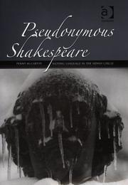 Cover of: Pseudonymous Shakespeare