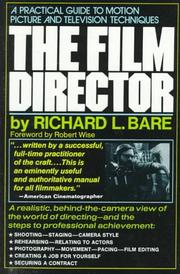 Cover of: The Film Director | Richard L. Bare