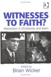 Cover of: Witnesses to Faith?