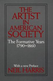 Cover of: The artist in American society