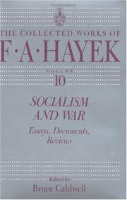 Cover of: Socialism and war: essays, documents, reviews