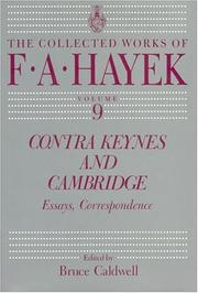 Cover of: Contra Keynes and Cambridge: essays, correspondence
