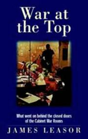 Cover of: War at the Top | James Leasor