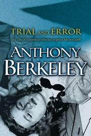 Cover of: Trial and error