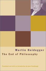 Cover of: The end of philosophy: Translated by Joan Stambaugh.