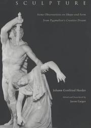 Cover of: Sculpture: Some Observations on Shape and Form from Pygmalion's Creative Dream