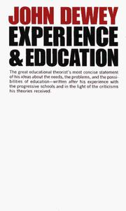 Cover of: Experience and Education | John Dewey