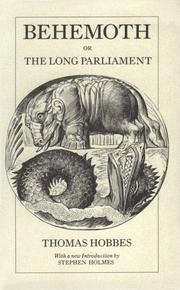 Cover of: Behemoth, or, The Long Parliament
