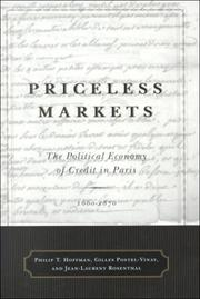 Cover of: Priceless markets