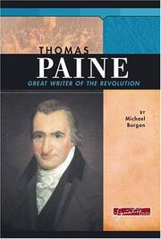 Cover of: Thomas Paine: Great Writer Of The Revolution (Signature Lives)