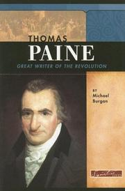 Cover of: Thomas Paine: Great Writer of the Revolution (Signature Lives: Revolutionary War Era) | Michael Burgan