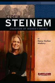 Cover of: Gloria Steinem | Nancy Garhan Attebury
