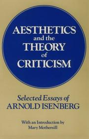 Cover of: Aesthetics and the Theory of Criticism