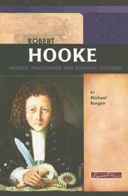 Cover of: Robert Hooke: Natural Philosopher and Scientific Explorer (Signature Lives)