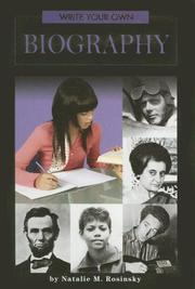 Cover of: Write Your Own Biography (Write Your Own)