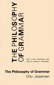 Cover of: The philosophy of grammar