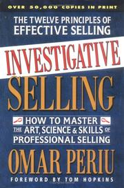 Investigative Selling by Omar Periu, Tom (FWD) Hopkins