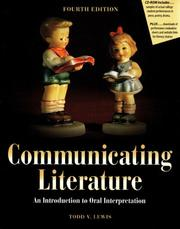 Cover of: Communicating literature | Todd Lewis