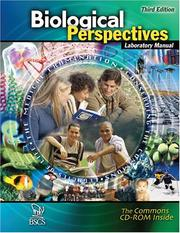 Cover of: Biological Perspectives Laboratory Manual