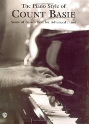 Cover of: The Piano Style of Count Basie