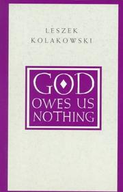 Cover of: God Owes Us Nothing | Leszek KoЕ'akowski