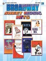 Cover of: Broadway Sheet Music Hits | Dan Coates