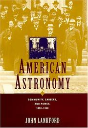 Cover of: American astronomy