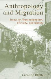 Cover of: Anthropology and Migration; Essays on Transnationalism, Ethnicity, and Identity