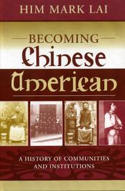Cover of: Becoming Chinese American | H. Mark Lai