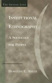 Cover of: Institutional ethnography