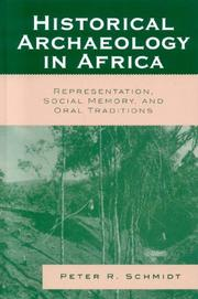 Cover of: Historical Archaeology in Africa | Peter R. Schmidt