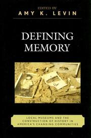 Cover of: Defining Memory | Amy Levin