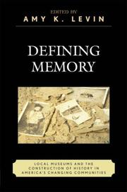 Cover of: Defining Memory
