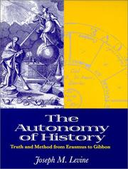 Cover of: The autonomy of history