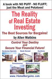 Cover of: The Reality of Real Estate Investing | Allen Watkins